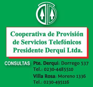 Cooperativa Telefonica Derqui. Villa Rosa