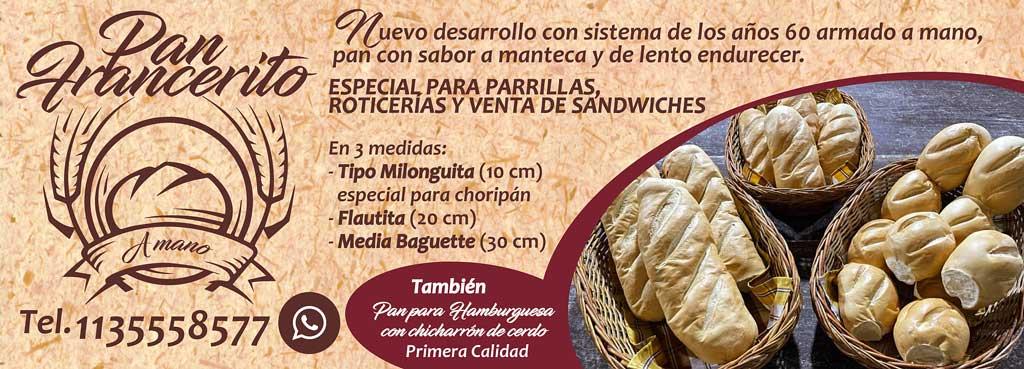 Pan Francerito. Pedidos al 1135558577